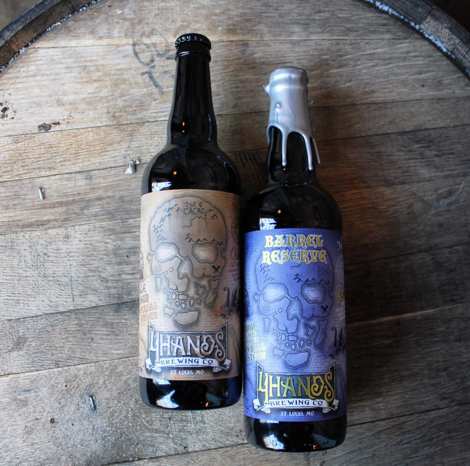 Two new stouts being released today by 4 Hands.